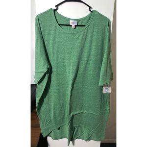 Solid Green LuLaRoe Irma size XL